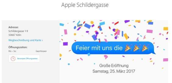 Apple Store eröffnet in der Schildergasse in Köln