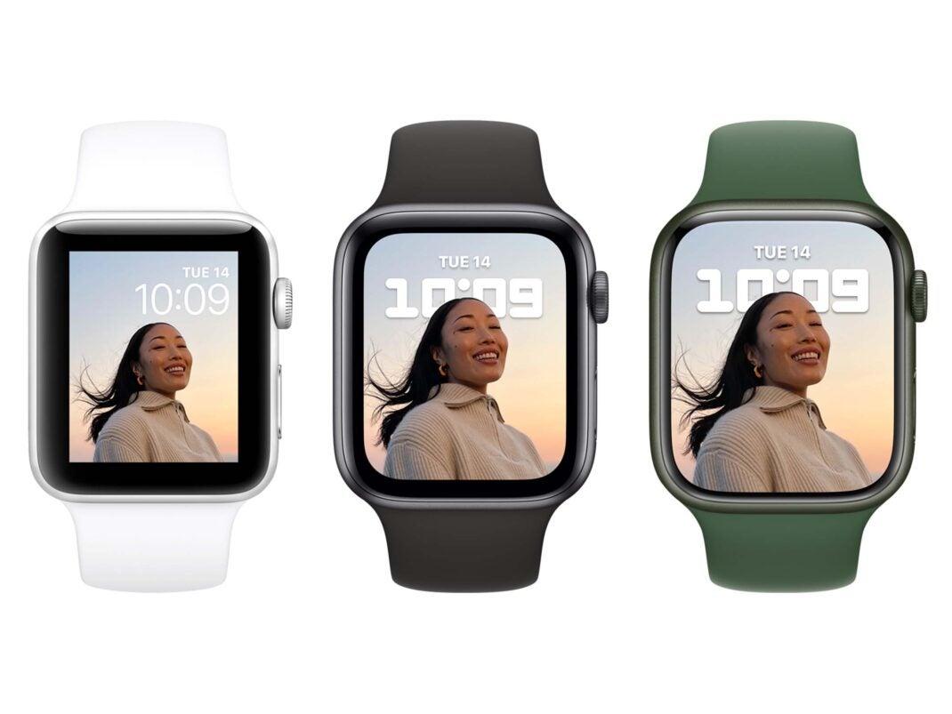 Direkter Vergleich der Apple Watch Series 3, Series 6 und Series 7