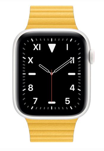 Apple Watch Edition in Keramik-Weiß mit gelben Band