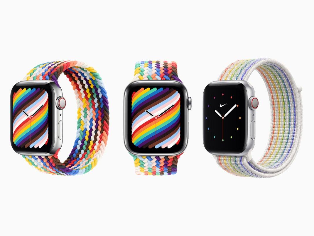 Die beiden neuen Apple Watch Pride Edition Armbänder