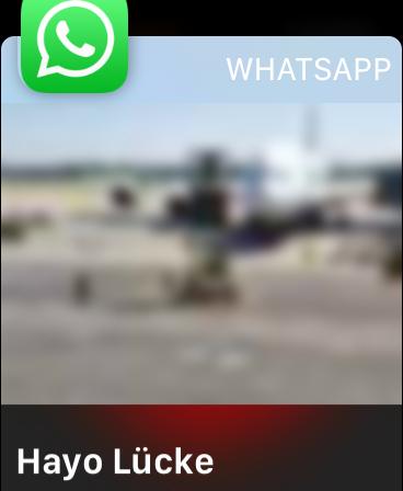 WhatsApp-Nachricht mit Foto auf Apple Watch Series 5