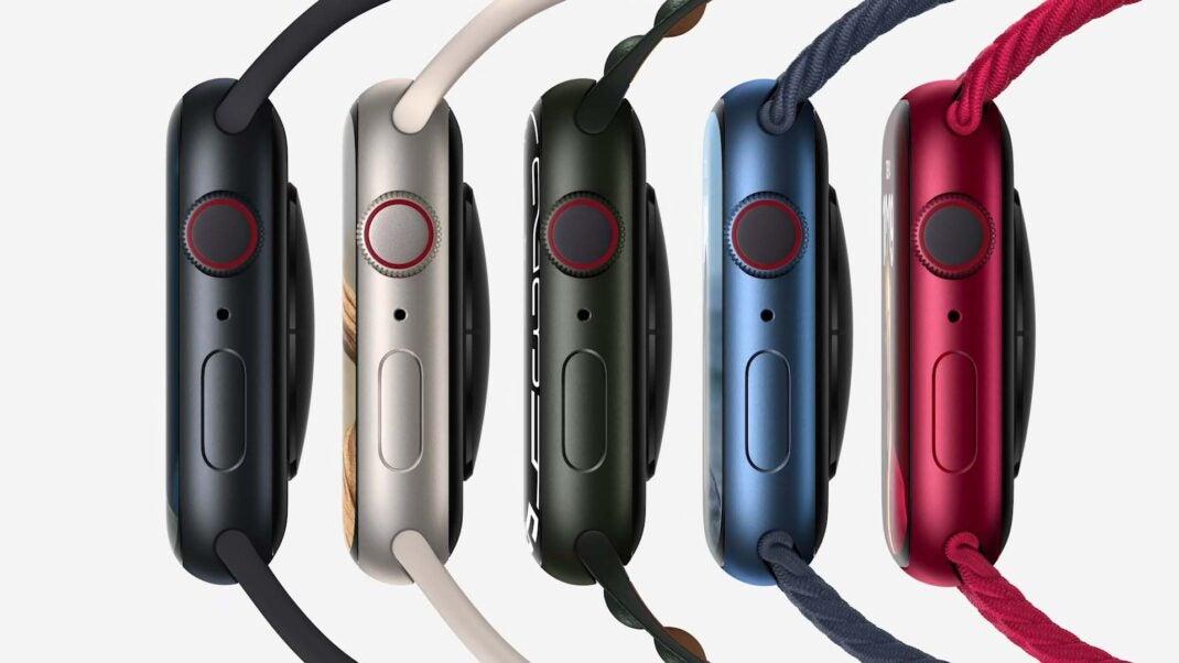 Die neuen Farben der Apple Watch Series 7 in Aluminium