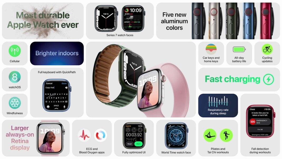 Die wichtigsten neuen Features der Apple Watch Series 7