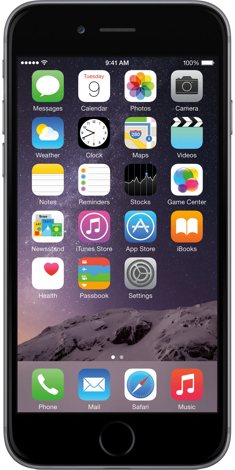 Apple iPhone 6 Plus Silber Front