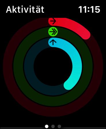 Aktivitätsringe auf der Apple Watch Series 5