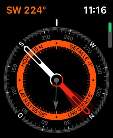 Kompass auf der Apple Watch Series 5