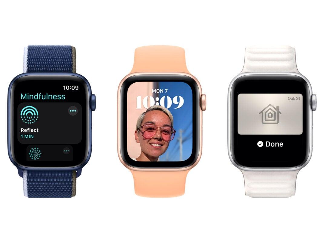 watchOS 8 mit neuer Mindfulness-App, Porträt-Zifferblatt und digitalen Schlüsseln