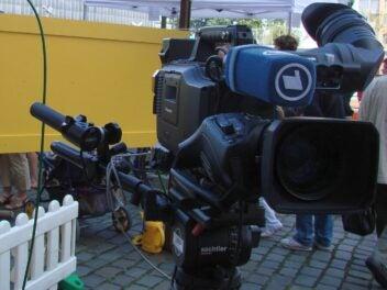 Eine Kamera der ARD