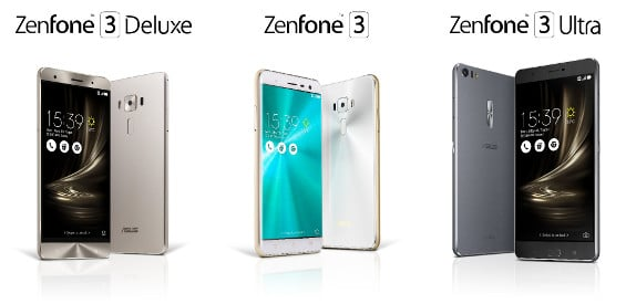 Asus stellt Zenfone 3, Zenfone 3 Ultra und Zenfone 3 Deluxe vor