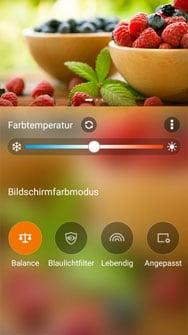 Bildschirmeinstellungen des Asus ZenFone Max