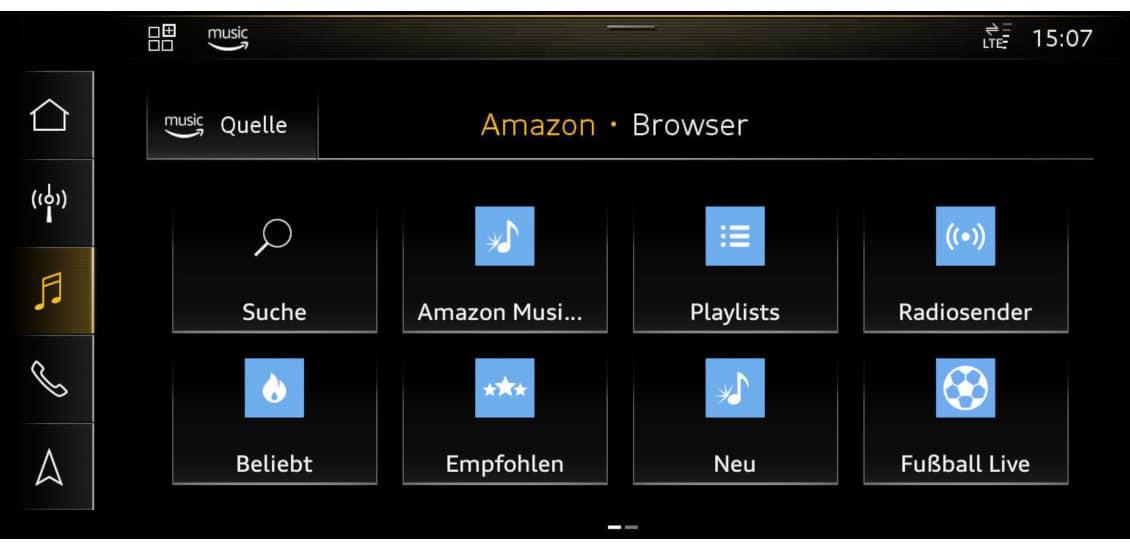 Audi Connect mit Amazon Music