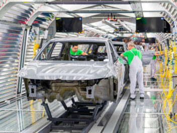 Autofertigung bei Volkswagen