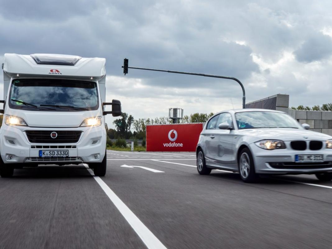 Selbstfahrende Autos auf dem Testcenter von Vodafone