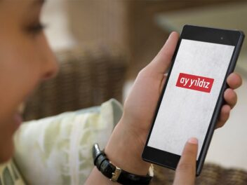 Ay Yildiz-Logo auf einem Handy