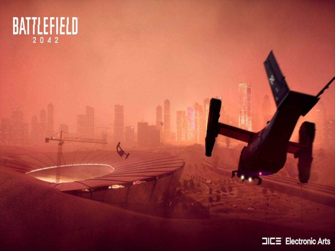 Kriegsszene in Battlefield 2042
