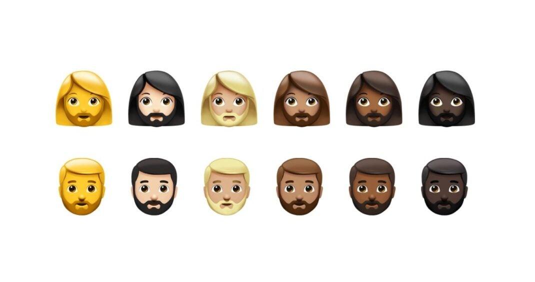 iOS 14.5 mit neuen Optionen für die Auswahl einer Frau oder eines Manns mit Bart