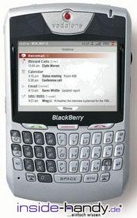 Blackberry 8707v Datenblatt - Foto des Blackberry 8707v