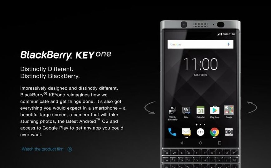 Blackberry KeyOne Screenshots