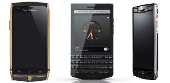 Blackberry Porsche Lamborghini Vertu Luxus-Smartphone