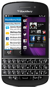 Blackberry Q10 Datenblatt - Foto des Blackberry Q10