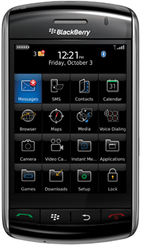 Blackberry Storm Datenblatt - Foto des Blackberry Storm