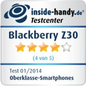 Blackberry Z30 Testsiegel