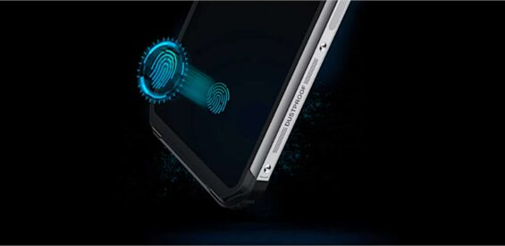 Fingerabdrucksensor im Display des Blackview BV9600 Plus