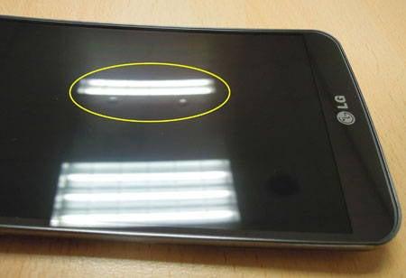Blasen auf dem Display des LG G Flex