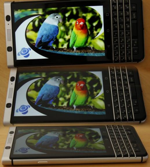 Blickwinkelstabilität BlackBerry KEYone