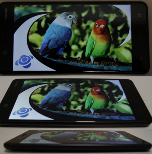 Blickwinkelstabilität Nokia 5