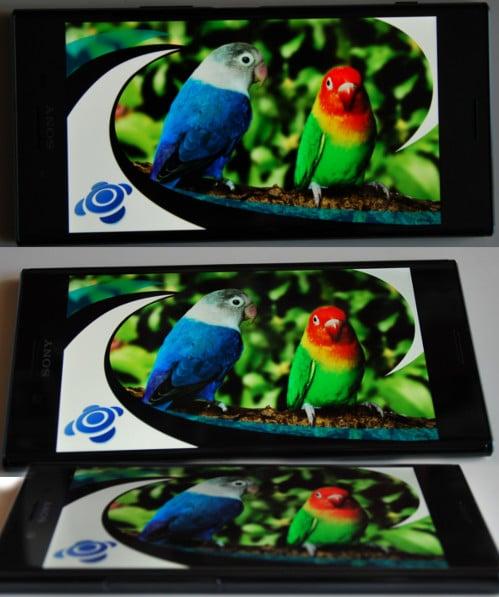 Blickwinkelstabilität Sony Xperia XZ Premium