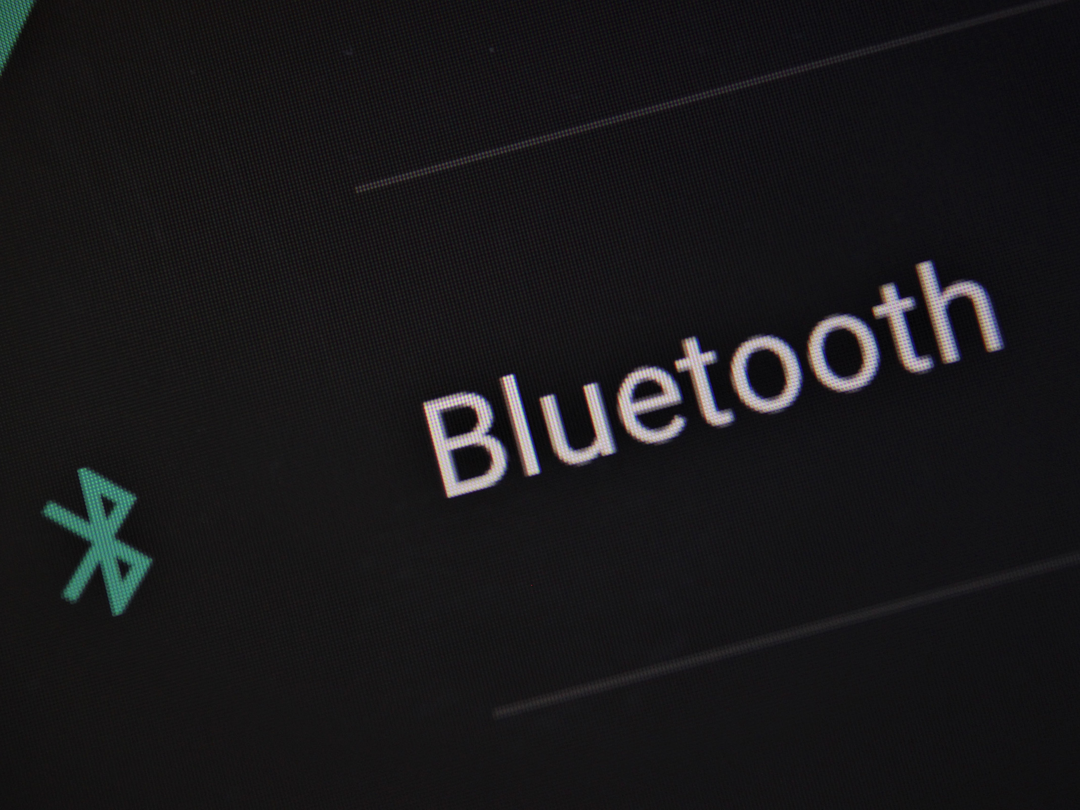 Bluetooth-Icon auf dem Handy-Display