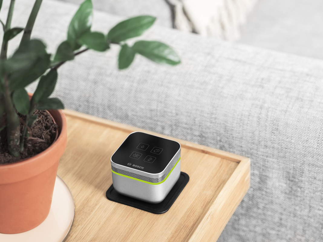 Bosch Smart Home Air in einem Wohnzimmer