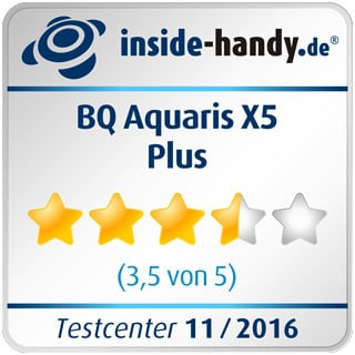 Testsiegel des BQ Aquaris X5 Plus