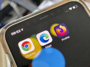 Browser Apps auf Smartphone