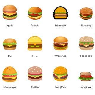 Burger-Emoji-Vergleich