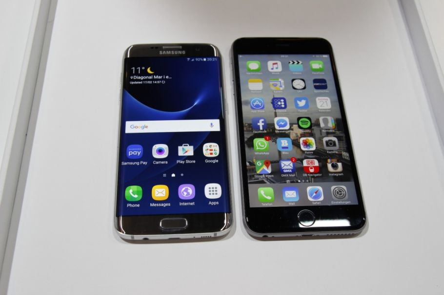 Apple iPhone 6s Plus und Samsung Galaxy S7 edge Vergleich