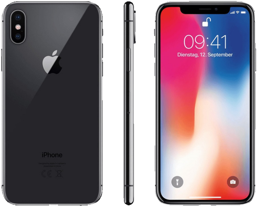 Apple iPhone X in grau