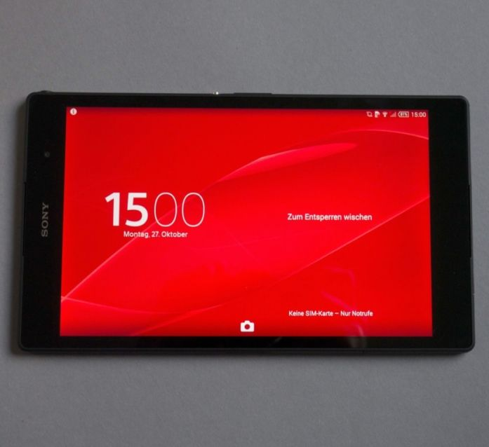 Das Xperia Z3 Tablet COmpact angefasst
