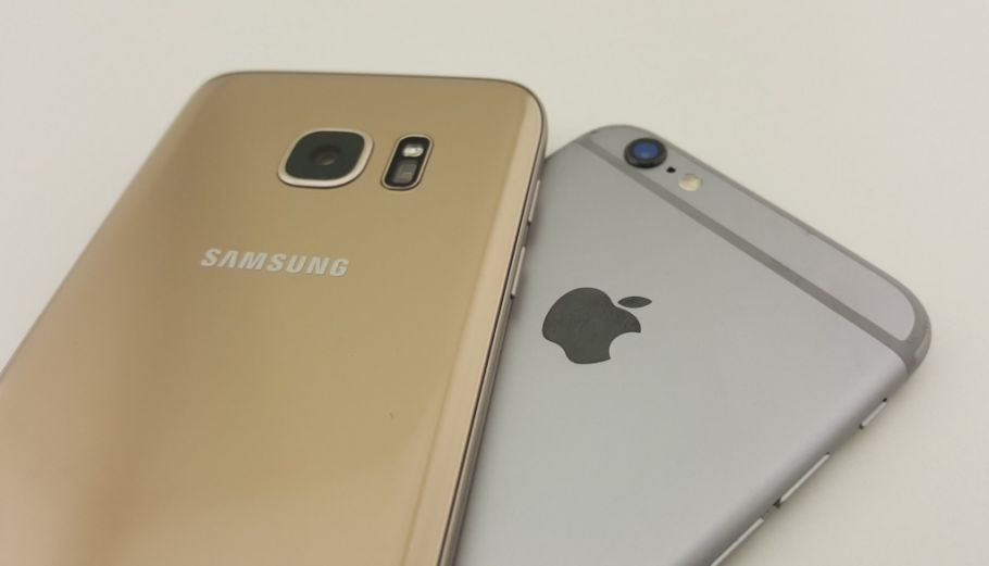Galaxy S7 (oben) vs. iPhone 6s