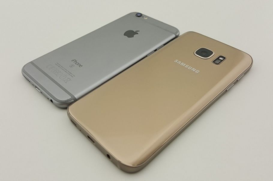 Galaxy S7 (rechts) vs. iPhone 6s