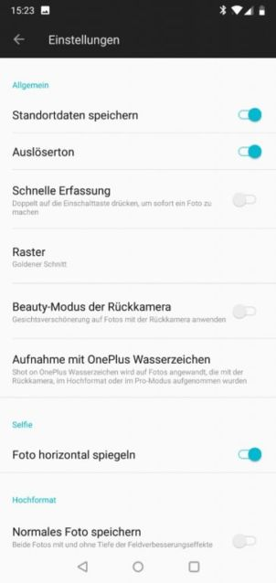 OnePlus 6: Die Kamera-Software
