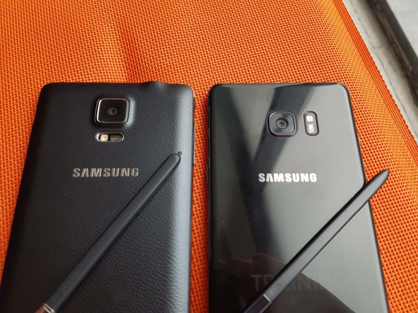 Samsung Galaxy Note 4 vs. Note7: Hands-On-Fotos