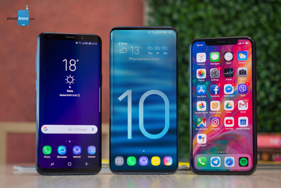 Samsung Galaxy S10 Konzept vs. iPhone Xs vs. Galaxy S9