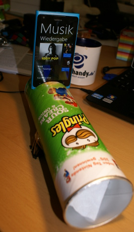 Chips-Dose als Verstärker, Pringles