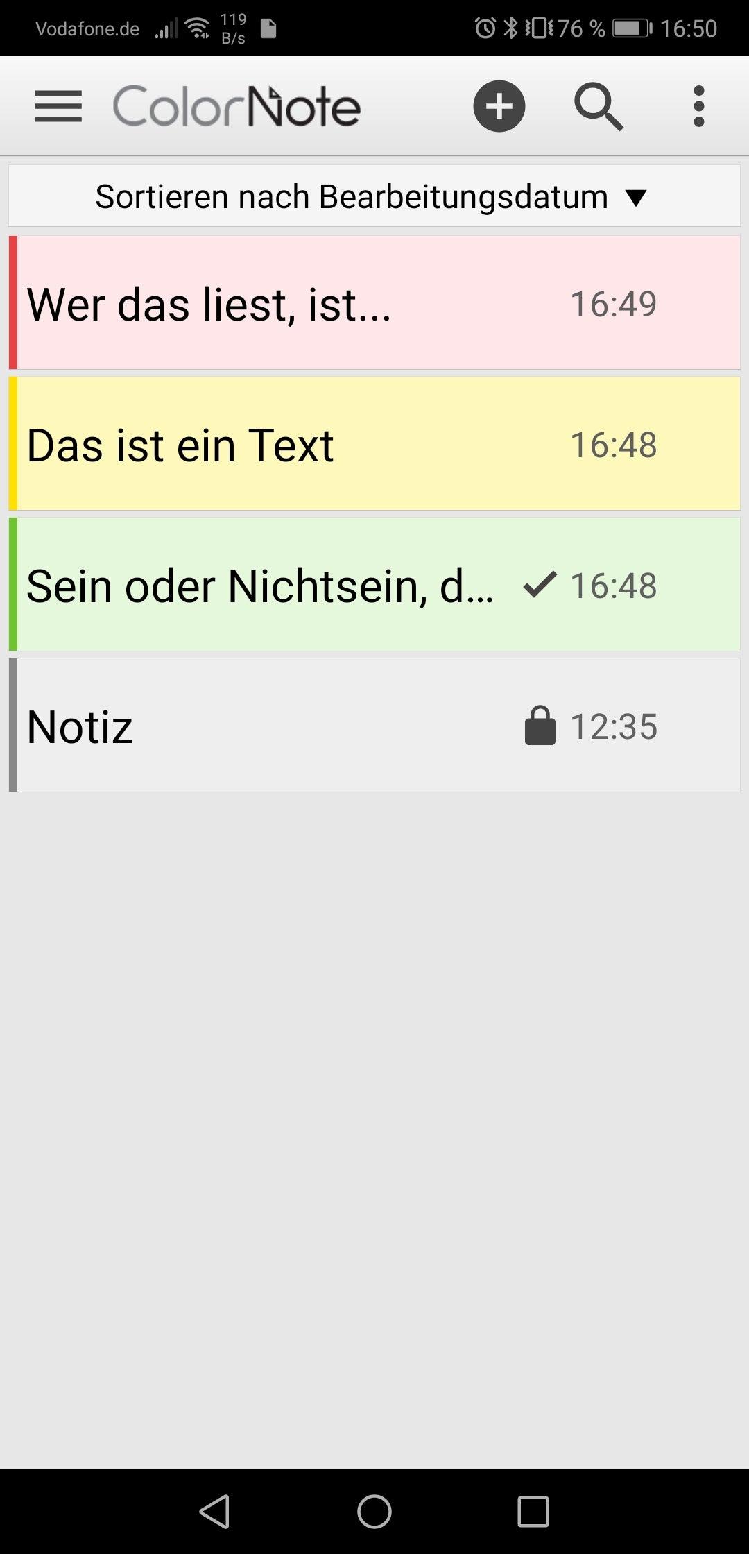 Notizen App Android