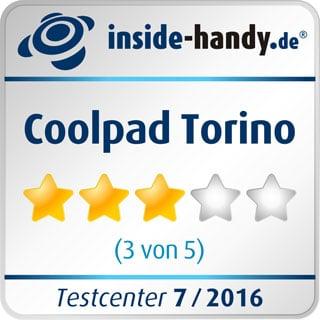 Testsiegel des Coolpad Torino