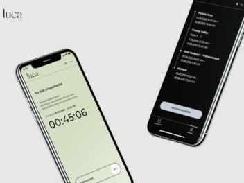 Die Kontakt-Tracing-App Luca auf Smartphones
