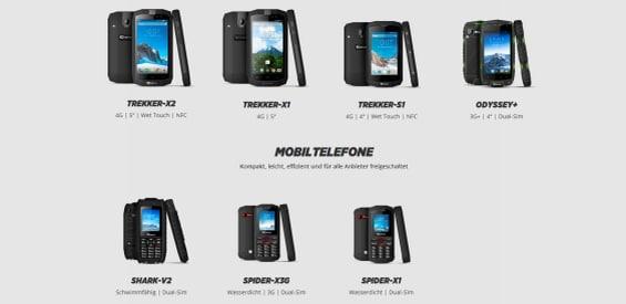 Crosscall Outdoor-Smartphones und Mobiltelefone