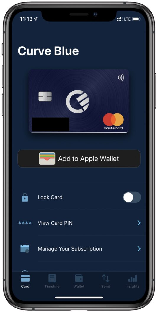 Curve Apple Pay